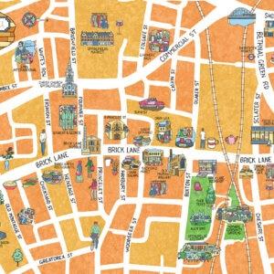 14 brick lane map